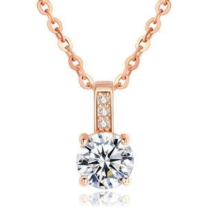 Wholeslae Fashion and creative zircon copper pendant necklace unique designs with 45+5 cm chains