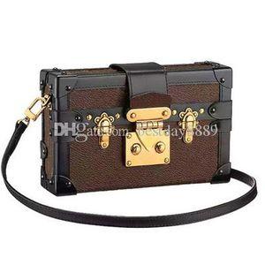 Hot Sale Women Handbags Evening Bags Leather Fashion Box Designer Clutch Brick Messenger Shoulder Bag Petite Malle Come With Box