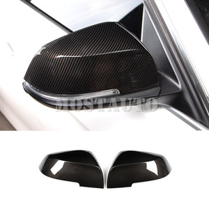 For BMW 3 Series F30 F34 Carbon Fiber Style Rearview Mirror Trim Cover 2013-2018 2pcs