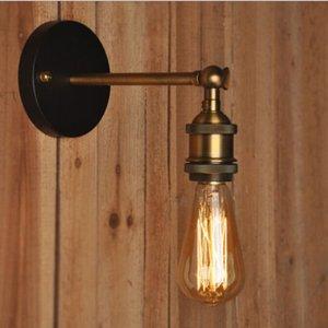 Indoor Lighting American Vintage LED Wall Lights 110V 220V E27 Metal Wall Lamps Retro Rustic Light Fixtures Lighting In Stock