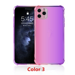Hot sale Anti-fall Gradient color Transparent Shockproof soft TPU shell protective cover mobile phone case for iphone 11 pro max 8plus