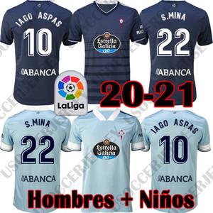 2020 2021 Сельта футбол Джерси Аспас SANTI МИНА BOUFAL Футбол рубашки 20 21 Celta Лучшие качества мужчины Kit Дети форменные