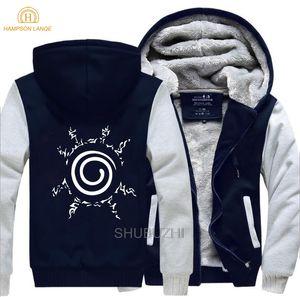Hampson LANQE Sweatshirts Japon Anime Naruto Uzumaki Naruto Sweat Men hiver chaud polaire épaisse Hoodies Hommes