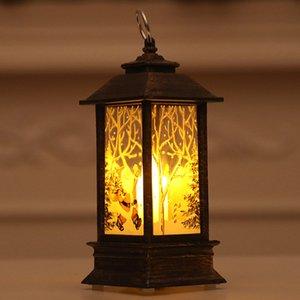 Caliente de velas de Navidad luz de la linterna del sostenedor de vela de la lámpara del bulbo del partido del hogar Decoración MDD88