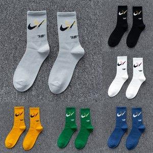 Fare doppio della lettera di estate degli uomini di colore del nuovo cotone NK di pallacanestro di sport e casual di alta tubo di basket calze calzini alla moda