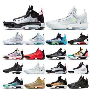 2020 XXXIV chaussures de basket-ball Hommes 34 Jumpman BAYOU BOYS Black Cat bleu Void formateurs sneakers sport croustillants INFRAROUGE taille de la mode 7-12