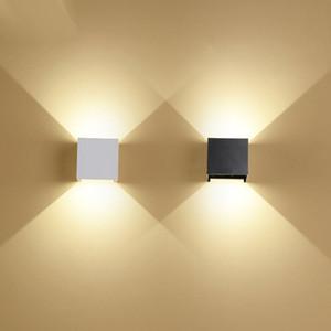Feimefeiyou 6W LED lampada الألومنيوم جدار مشروع السكك الحديدية الخفيفة ساحة LED مصباح الجدار السرير أضواء جدار غرفة النوم ديكور الفنون