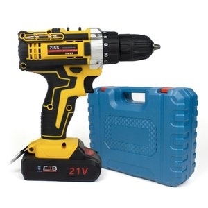 forage 21-Volt 2 vitesses électrique sans fil perceuse / tournevis avec Bits Set batterie