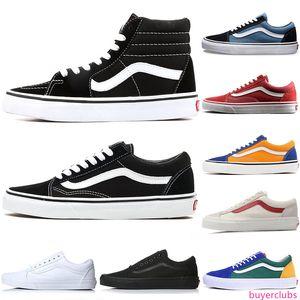 Van Hommes Femmes Chaussures Casual Old Skool Canvas Designer Chaussures Triple Noir Blanc Mode Hommes Skate Sport Sneaker Taille 36-44