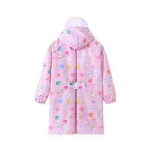 capa de chuva Y33P1 dos desenhos animados Q versão infantil com mochila transparente Body Bag veste as roupas do corpo Cloak brim jumpsui bebês meninas dos meninos