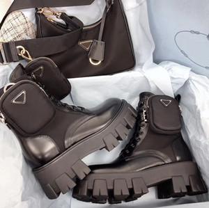 Donne Designers Rois stivaletti Martin Stivali e Nylon Boot militare ispirato combattimento stivali nylon bouch attaccato alla caviglia con cinturino