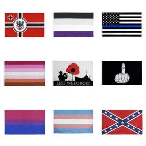 Bandera delgada línea azul de EE.UU. Decal Pegatinas para Coches Camiones - 2,5 * 4.5inch estadounidense Ventana EE.UU. bandera pegatina para el coche # 677