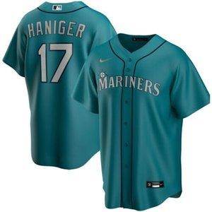 Дешевые Митч Haniger # 17 Мужские ВСЕ ЦВЕТА 2020 Mens прошитой XS-6XL бейсбола