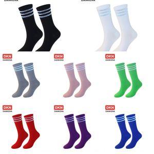 YNrUt три бар Три стиль маленьких средняя нога отражает стержневой отражательного студент модного носка студентого прилива Ins бренд Tide полосатые флуоресцентный SOC