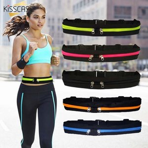 KISSCASE Waist Pack Bag Men Women Fashion Double Pocket Waterproof Phone Belt Nylon Casual Small Bag For Traveling Running Sport
