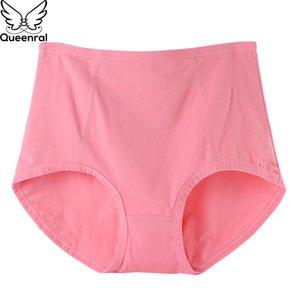 Queenral Briefs Underwear Panties Women Cotton Sexy Seamless Women Plus Size Panties High Waist Ladies Briefs For Women XL XXL
