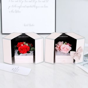 100 Languages Necklace Valentine's Day Gift Unfade Rose flower Jewelry Gift Box For Mother Girl friend