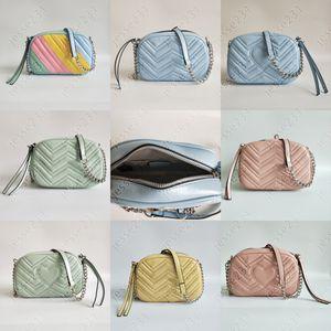 De calidad superior Nuevo estilo Marmont bolsos de las mujeres de plata de la cadena del hombro Bolsas Crossbody Bolsa Soho Disco bolsa de mensajero del monedero Wallet 7colors en la acción
