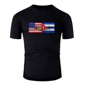 Personalized United States And Cuba T-Shirt Man Classical Cute Boy Girl T Shirts O Neck Big Size 3xl 4xl 5xl