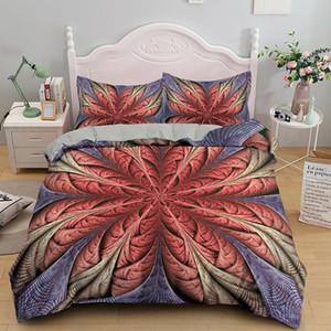 3pcs Bohemian Bedding Set Queen Size Mandala Duvet Cover Set With Pillowcase AU king Bedline Home Decor Textile