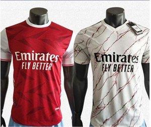 Player versione Gunner 2020 calcio domestico Jersey rosso 20/21 Uomini mitragliere bianca assente di calcio a manica corta camicia su misura maglia da calcio In vendita