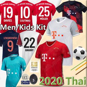 بايرن ميونيخ 20 21 SANE COUTINHO لكرة القدم جيرسي LEWANDOWSKI HERNANDEZ NIANZOU MULLER قميص كرة القدم عدة رجال + الاطفال ال120 MUNCHEN 2020 2021
