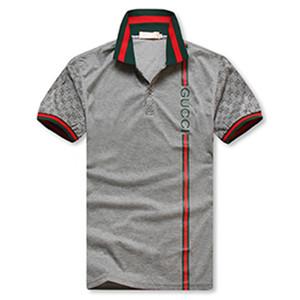 Comme des Garçons Renk Patchwork Erkek Tasarımcı Polos Moda İnce Yaka Yaka Kısa Kollu Polo Gömlek Casual Erkek Yaz Gucci