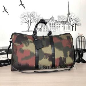 Duffel Bags Tarnung Sommer-Blumen-Druck-Taschen-Grün Rot Hardware 56416 p1485 Tavel Tasche Keepall bandoulière 50yWeN #