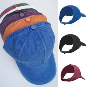 Shipping Womem's Ponytail Messy Bun Baseball Cap Half Empty Top Visor Snapback Hat Afro Curly Hair Backless Hats Dad Caps