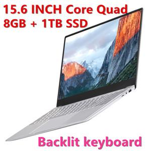 Freies Verschiffen drahtlose Computer Notebook Slim Laptop J4105 tragbare SSD Geschäft Quad-Core-1080P 8GB PC-Studie