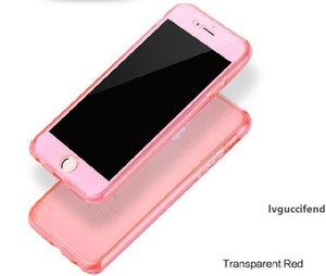 Ultra Hybrid tasarlanan 360 Derece Tam Vücut Yumuşak TPU Cep Telefonu Kılıf Ön Arka Kapak iphone XS MAX XR X 8 7 6 artı Samsung S9 notu 9