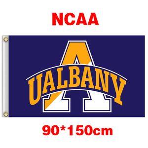 Bandeira de poliéster NCAA Albany grande equipe Danes 3ft * 5 pés (90cm 150 centímetros *) decoração presentes casa voando jardim bandeira da bandeira