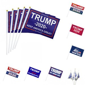 Trump 2020 Fazer Eleição Presidencial América Grande US Bandeiras Banners 14 * 21cm portáteis Bandeiras de sinal Mão Bandeiras letra impressa acena
