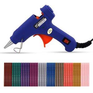 Мини Hot Melt Клей пистолет Клей палочка Съемная Anti-горячая крышка Glue Gun Kit с гибким триггером для DIY Малого Craft Проектов Ежедневного Ремонта