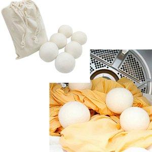 6CM الصوف الجاف الكرة بريميوم قابلة لإعادة الاستخدام النسيج الطبيعي كرات شعر تقليل ثابت يساعد على الملابس الجافة في الغسيل أسرع الغسيل الكرة BH2201 CY