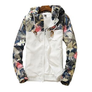 Nuovo floreale Bomber degli uomini di Hip Hop Slim Fit Fiori Pilot Bomber cappotto degli uomini con cappuccio Giacche Plus Size 4XL