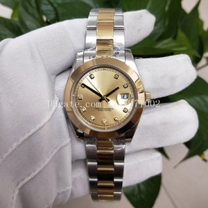 High-quality Asian neutral watch 2813 automatic mechanical female watch 126233 36mm champagne diamond dial 18k gold stainless steel strap