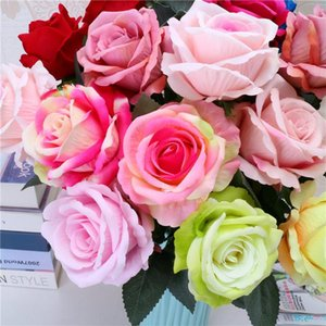 flannelette emulação única rosa decoração simulação de casamento subiu família flor simulação do feriado do dia dos namorados presente T9I00383