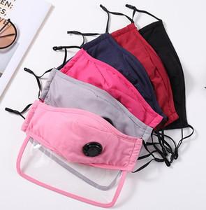 Moda Unisex Yetişkin Pamuk Ekran kalkan Yüz Filtreler sayesinde Nefes Vana PM2.5 Anti Toz Yıkanabilir Kumaş Ağız Maske Maske Maske DWC456