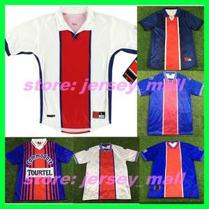 1996 98 99 2000 Retro Paris ANELKA OKOCHA WEAH football t-shirt Jersey 1993 94 95 Maillots classique Wörns Maillot de football Ronaldino courrier antique