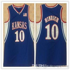 10 Хайнрик Канзас Джайховкс ретро мужской баскетбольной Джерси прошитой Настроить любой номер и имя