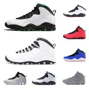 10 10s tênis de basquete Mens Cimento Seattle Westbrook Turma de 2006 Chicago Aço sneaker Grey 10 homens sapatos 10s esportes