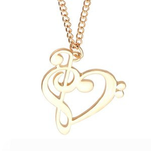 American music notes pendant Silver Necklace Small Necklaces Pendants Women Hot Selling Handmade Animal Factory