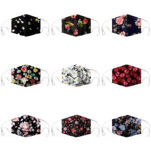 2020 Fashion Mask Button Headbands Women Yoga Elastic Hairband Turban Exercise Print Flower Headwear Girls Hair Accessories Gift L127FA#6#440