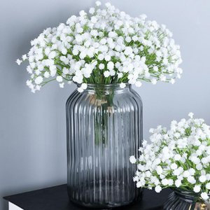Anpro Artificial Flowers Gypsophila Fake Silk Flowers Simulation Bouquets for Wedding Party DIY Home Office Table Decoration