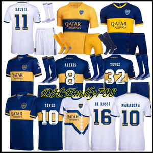 2019 20 Boca Juniors Accueil Uniformes Football DE ROSSI Carlitos 20 21 Boca Juniors Maillot Shorts + Chaussettes Boca Football Football Maillots