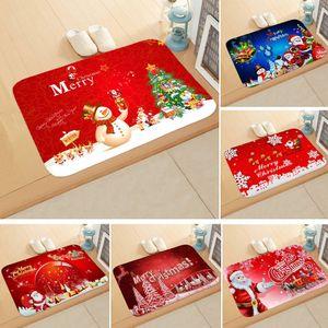 60*40cm Carpet Merry Christmas Decoration for Home Christmas 2019 Ornaments Garland New Year 2020 Noel Santa Claus Xmas Snowman