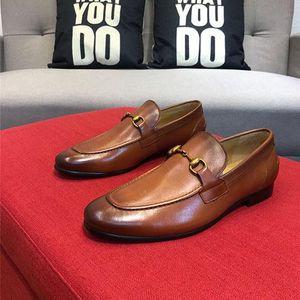 2020 Newly Men's Quality Patent Leather Shoes Zapatos de hombre Size 38-44 Black Brown Leather Soft Man Dress Shoes