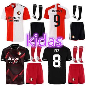 Kit enfants Chaussettes 20 21 Feyenoord Soccer Jerseys 2020 2021 Larsson V.Persie Berghuis Vilhena Feyenoord Rotterdam Jersey Shirt