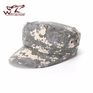 WOLFSLAVES Tactical Hat Octagonal Armycap ACU CP Tarnung Jagdhut Kampf Solider Jagdzubehör